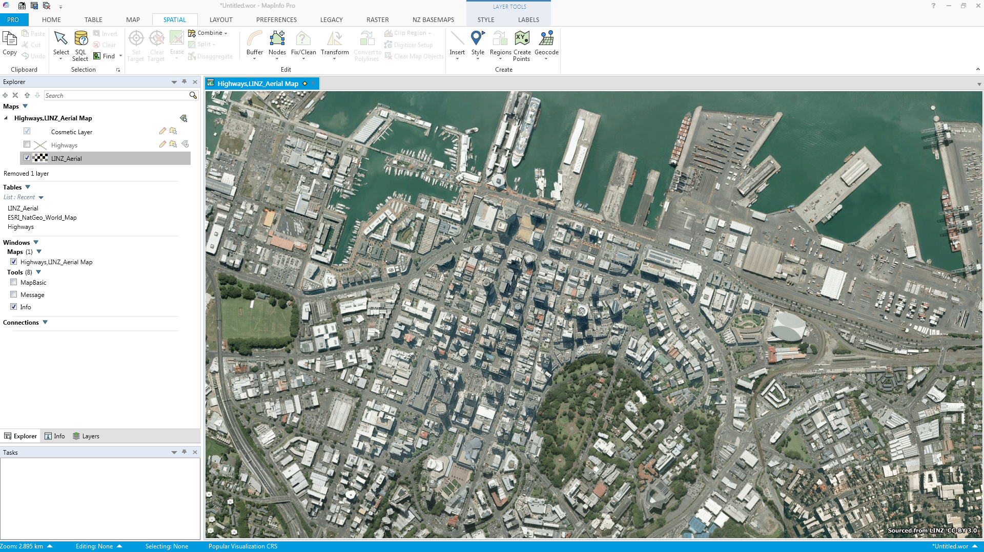 How to access the latest Aerial Imagery for New Zealand in MapInfo Pro.